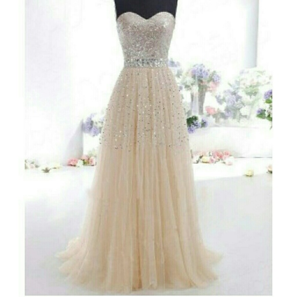 Champagne Color Formal Prom Dress | Poshmark